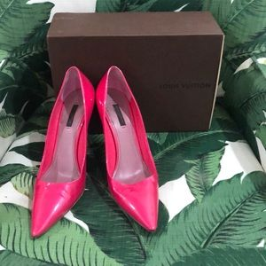 💯 Authentic Louis Vuitton size 40 pink heels!